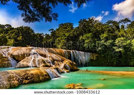 Shutterstock Mexico. The Agua Azul cascades (