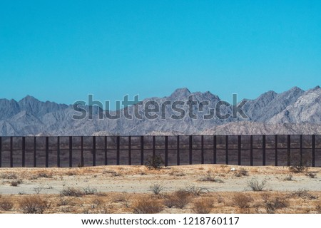 Mexico - USA wall #1218760117