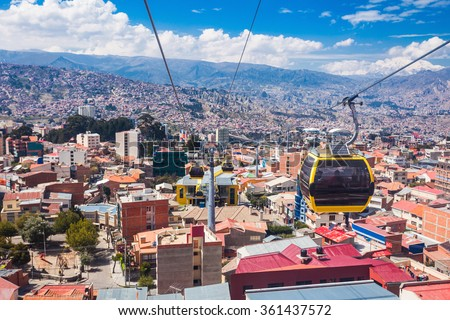 Shutterstock Mi Teleferico is an aerial cable car urban transit system in the city of La Paz, Bolivia.