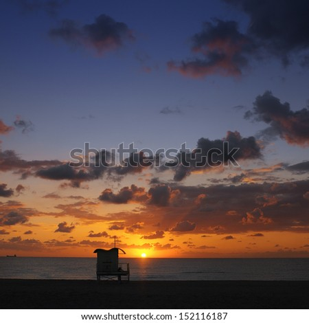 Miami Beach at sunset - Florida - United States of America