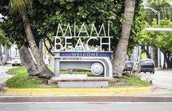 Miami Beach welcome sign, Florida