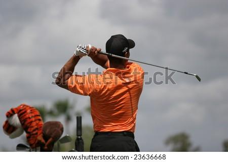 MIAMI, FL - FEB 22, 2007 - Tiger Woods at World golf championship, doral golf course, Miami, feb 22, 2007, Miami, florida