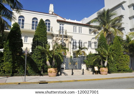 MIAMI  -  FLORIDA - USA -  OCTOBER 30: Versace mansion. In 1997 the world gasped as Gianni Versace was shot to death on the doorstep of his Miami South Beach mansion on october 30 2012 in Miami USA