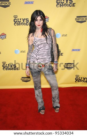 Miami Ink star Kat Von D (Katherine von Drachenberg) at Spike TV's Guys Choice Awards at Radford Studios, Studio City, CA June 10, 2007  Los Angeles, CA Picture: Paul Smith / Featureflash - stock photo