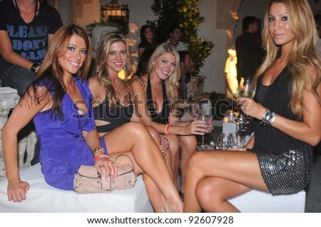 MIAMI - JULY 16: Guests arriving to private party for the Shay Todd Swimsuit Collection for Spring/ Summer 2012 during Mercedes-Benz Swim Fashion Week on July 16, 2011 in Miami, FL - stock photo