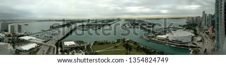 miami panoramic view #1354824749