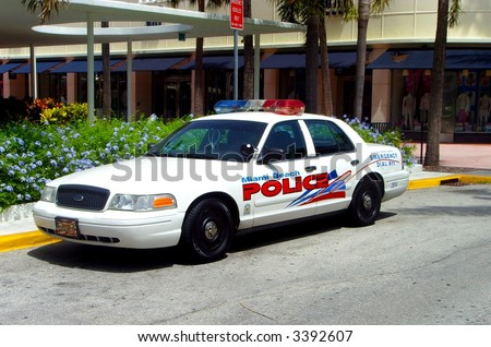 Miami Police Depatrment Squad Car... - stock photo