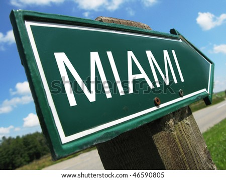 MIAMI road sign