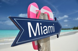 Miami sign on the beach