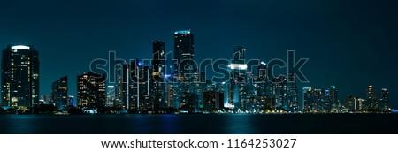 Miami Skyline Panorama #1164253027