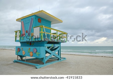 Miami South Beach Lifeguard Tower, Florida USA