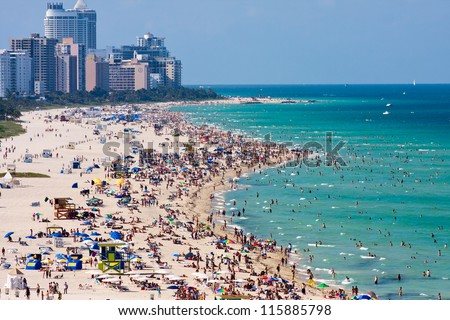 Miami south beach, view from port entry channel. #115885798