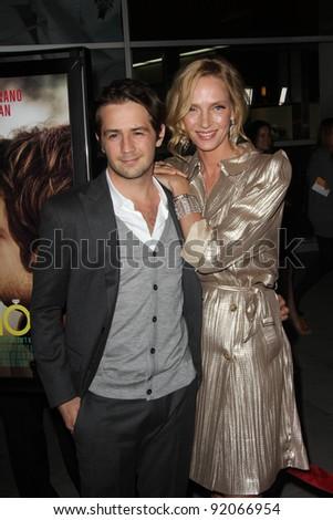 "Michael Angarano and Uma Thurman at the ""Ceremony"" Los Angeles Premiere, Arclight, Hollywood, CA. 03-22-11"