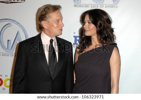 Michael Douglas and Catherine Zeta-Jones at the 20th Annual Producers Guild Awards. Hollywood Palladium, Hollywood, CA. 01-24-09