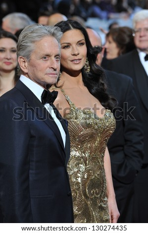 Michael Douglas & Catherine Zeta-Jones at the 85th Academy Awards at the Dolby Theatre, Hollywood. February 24, 2013  Los Angeles, CA Picture: Paul Smith