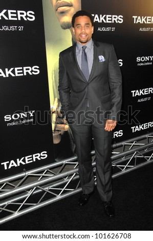 "Michael Ealy  at the ""Takers"" World Premiere, Arclight Cinerama Dome, Hollywood, CA. 08-04-10"