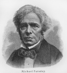 Michael Faraday - Picture from Meyers Lexicon books written in German language. Collection of 21 volumes published between 1905 and 1909.