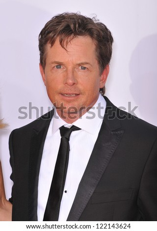 Michael J. Fox at the 64th Primetime Emmy Awards at the Nokia Theatre LA Live. September 23, 2012  Los Angeles, CA Picture: Paul Smith