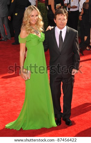 Michael J. Fox & Tracy Pollan at the 61st Primetime Emmy Awards at the Nokia Theatre L.A. Live. September 20, 2009  Los Angeles, CA Picture: Paul Smith / Featureflash
