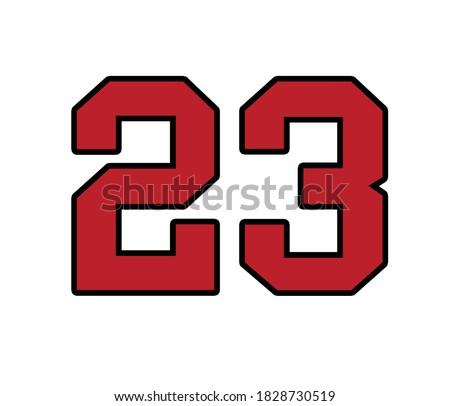 Michael Jordan bulls number 23. Stock photo ©