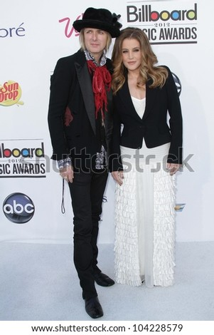 Michael Lockwood, Lisa Marie Presley at the 2012 Billboard Music Awards Arrivals, MGM Grand, Las Vegas, NV 05-20-12