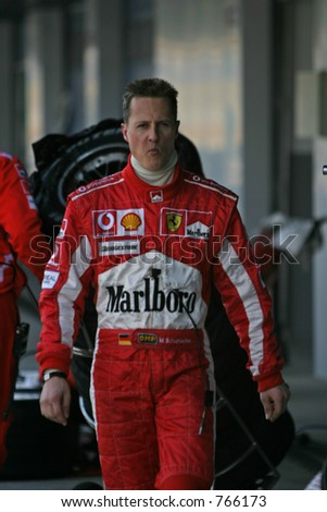Michael Schumacher, 7 F1 times world champion. Ferrari F2005