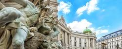 Michaelertrakt palace, Hofburg in Vienna, Austria. View from the Michaelerplatz.