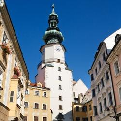Michal Tower (Michalska Brana), Bratislava, Slovakia. Historic City Gate.