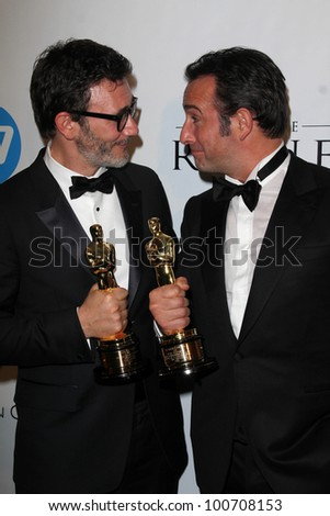 Michel Hazanavicius, Jean Dujardin at the Weinstein Company Post Oscar Event, Skybar, West Hollywood, CA 02-26-12