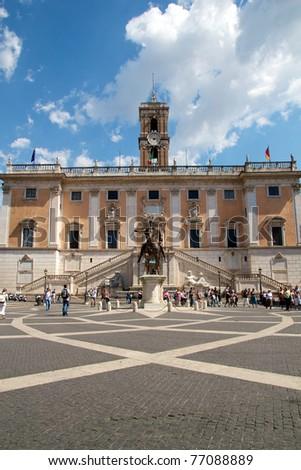 Michelangelo's Piazza del Campidoglio in Rome's Capitol Hill.