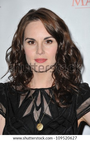 Michelle Dockery at photocall for the third series of Downton Abbey at the Beverly Hilton Hotel. July 22, 2012  Los Angeles, CA Picture: Paul Smith / Featureflash