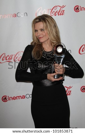 Michelle Pfeiffer at the CinemaCon 2012 Awards, Caesars Palace, Las Vegas, NV 04-26-12