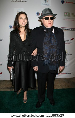 Michelle Rocca and Van Morrison at the 2007 US-Ireland Allliance Gala. The Ebell Club of Los Angeles, Los Angeles, CA. 02-22-07