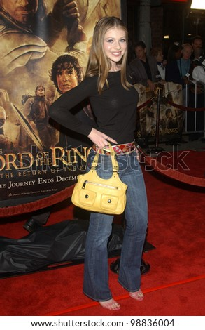 MICHELLE TRACHTENBERG at the USA premiere of The Lord of the Rings: The Return of the King, in Los Angeles. December 3, 2003  Paul Smith / Featureflash