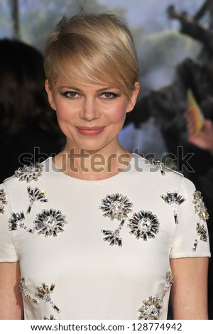 "Michelle Williams at the world premiere of her movie ""Oz: The Great and Powerful"" at the El Capitan Theatre, Hollywood. February 13, 2013  Los Angeles, CA Picture: Paul Smith"