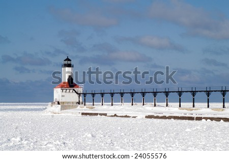 Michigan City Pierhead Breakwater Lights and Fog Signal