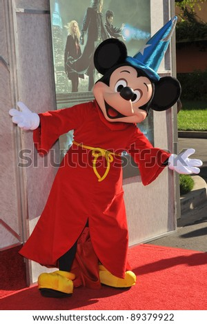 "Mickey Mouse at a benefit screening for ""The Sorcerer's Apprentice"" at Walt Disney Studios. July 12, 2010  Burbank, CA Picture: Paul Smith / Featureflash"