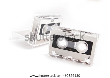 Micro audio cassette isolated on white background