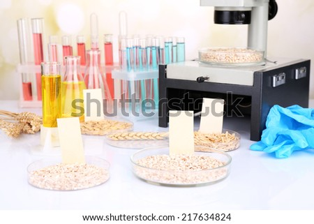 Microbiological testing for food quality at biochemistry laboratory