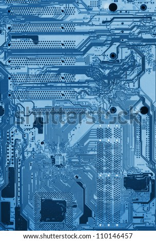 Microchip background - close-up of electronic circuit board with processor. X-Ray