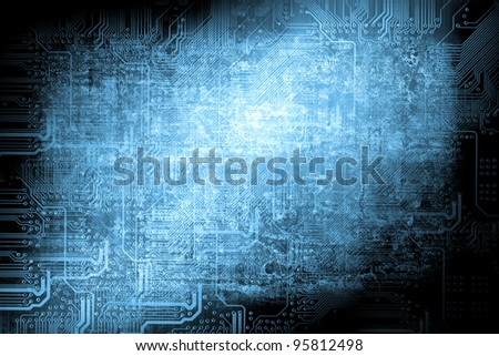 Microchip background - technology concept