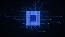 Microchip CPU Processor Turning On Background