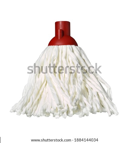 microfiber string mop head, isolated on white background Stock foto ©