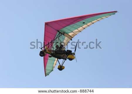 Microlight in fly by