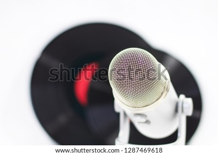 Microphone and gramophone records  #1287469618