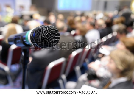 Microphone at conference.