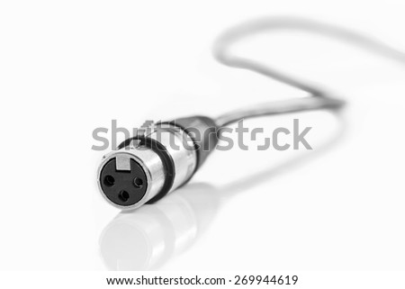 Microphone Cable On White Background