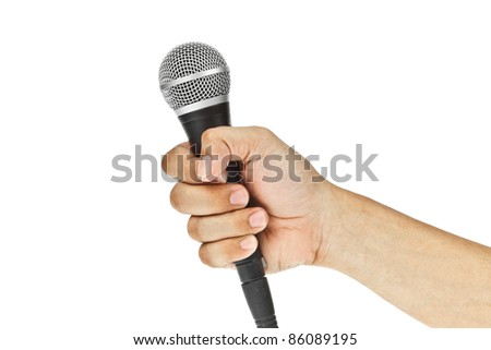 Microphone for Karaoke and hand