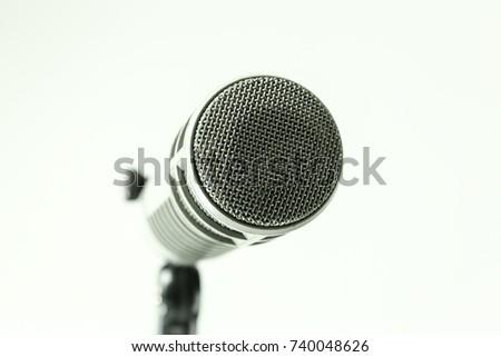 Microphone For Recording in Studio White Black-ground