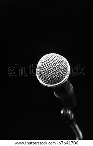 Microphone in a Black background